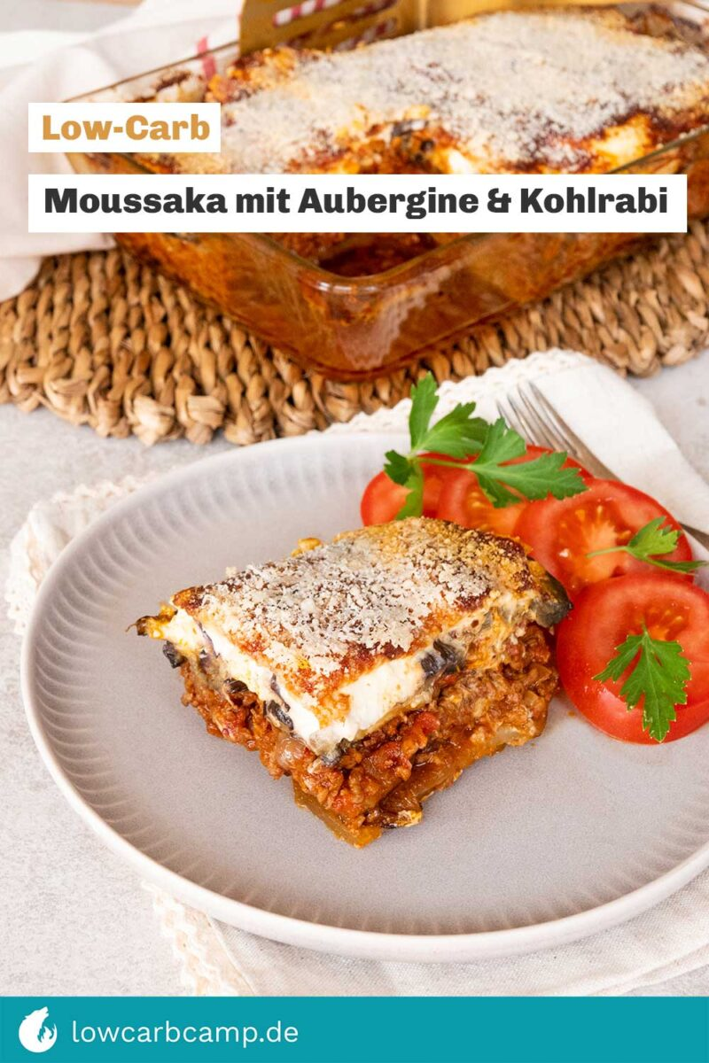 Moussaka mit Aubergine & Kohlrabi 🔥