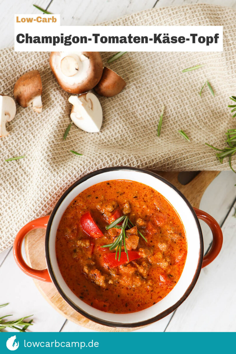 Champignon-Tomaten-Käse-Topf