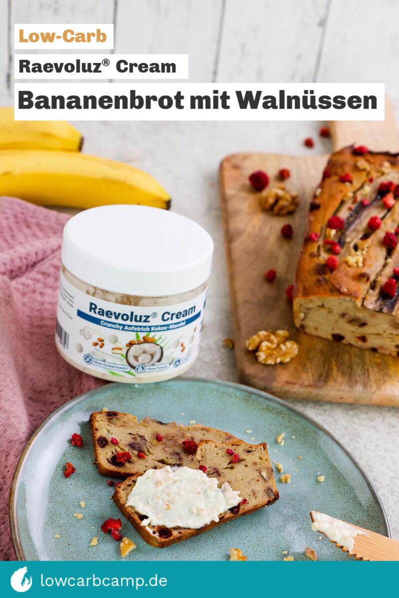 Bananenbrot mit Walnüssen - Raevoluz® Cream