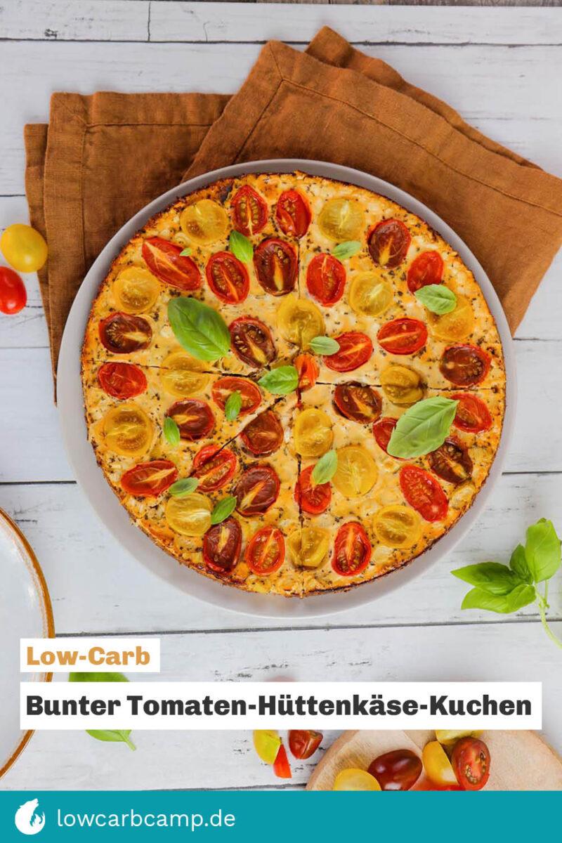 Bunter Tomaten-Hüttenkäse-Kuchen